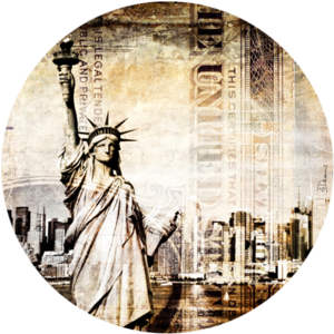 New York Liberty | Fotokunst rond
