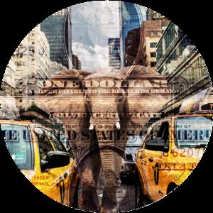 Elephant in New York | Fotokunst rond
