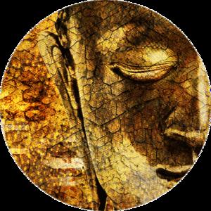 Boeddha in gold | Fotokunst rond