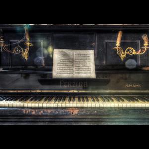Fotokunst piano