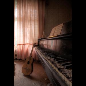 Fotokunst muziek | Fotokunst piano en gitaar