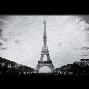 Fotokunst Eiffeltoren, Parijs