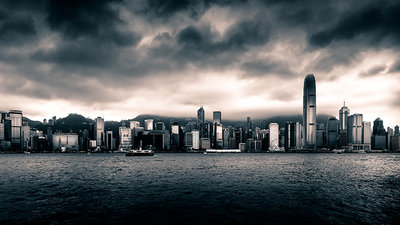 Hongkong skyline taken from Kowloon
