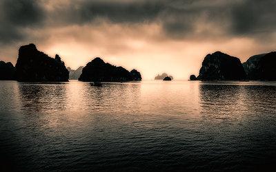 Bay of Halong islands Vietnam