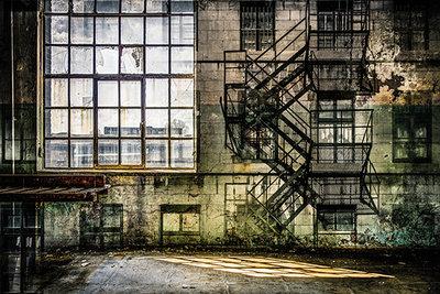 Desolate windowpane