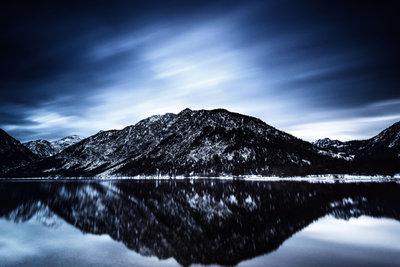 Reflecting mountain