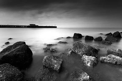Coastal morning BW