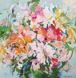 Paradise - 140 x 140 cm - Groot schilderij