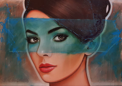 Summer Breeze - 140 x 100 cm - Groot vrouwen schilderij