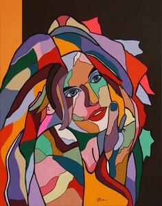 Remember me? - 80 x 100 cm - Vrouwen schilderij