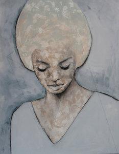 My inner thoughts - 110 x 140 cm - Vrouwen schilderij