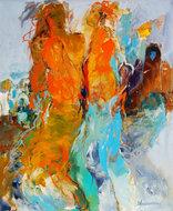 Beautiful-friendship-100-x-120-cm-Abstract-schilderij