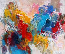 Jazz-hour-120-x-100-cm-Muziek-schilderij