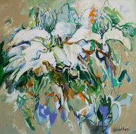 Daybreak-100-x-100-cm-Abstract-bloemen-schilderij