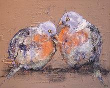 Tortelduifjes-100-x-80-cm-Vogel-schilderij