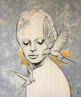 Free-II-110-x-130-cm-Schilderij-vrouw