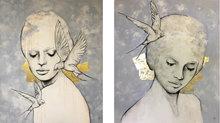 Tweeluik-(Free)-220-x-130-cm-Schilderij-vrouwen
