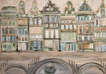 Oude-herenhuizen-grachtenpanden-150-x-100-cm-Grachtenpanden-schilderij