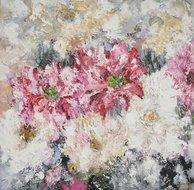 Scintillante-120-x-120-cm-schilderij-bloemen