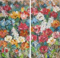Concetta-140-x-140-cm-schilderij-tweeluik-bloemen