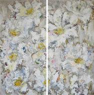 Margherite-Bianche-140-x-140-cm-schilderij-tweeluik-bloemen