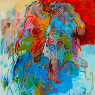 Just-the-two-of-us-100-x-100-cm-schilderij-abstract