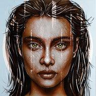 Powerful-110-x-110-Vrouwen-schilderij