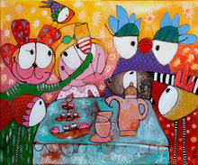 Cheers-to-life-120-x-100-cm-Vrolijk-schilderij