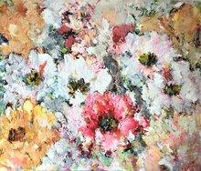 Escapade-130-x-110-cm-Schilderij-Bloemen
