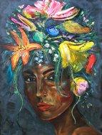 Do-you-need-more-120-x-160-cm--Schilderij-vrouw-bloemen