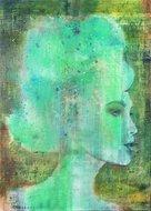 Smaragd-Mind-100-x-140-Schilderij-vrouw
