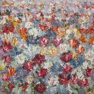 Campo-di-Fiori-100-x-100-cm-Bloemen-schilderij