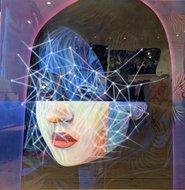 Focus schilderij portret