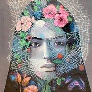 Vrouw portret epoxy