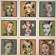 Thinking-Flowers-66-x-66-cm-Epoxy-schilderij-portretten