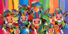 Koeien-uit-Nederland-160-x-80-cm-Schilderij-koeien