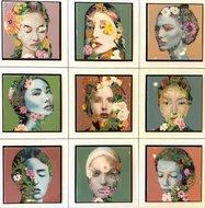 Epoxy schilderij vrouwen bloemen