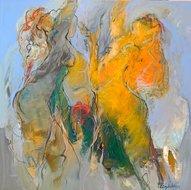 Summerrain-110-x-110-cm-schilderij-vrouwen