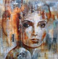 Ive-got-the-music-in-me-200-x-200-cm-schilderij-vrouw