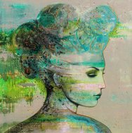 LA-woman-150-x-150-cm-Schilderij-vrouw