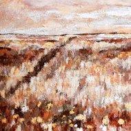 Landschap taupe bruin schilderij