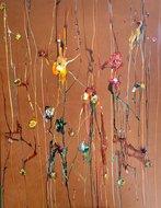 Bloemen schilderij leer simone theelen