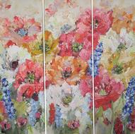 Flower-in-colors-150-x-150-cm-schilderij-drieluik-bloemen