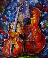 Musical-Interest-80-x-100-Kleurrijk-schilderij