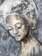 Schilderij vrouw