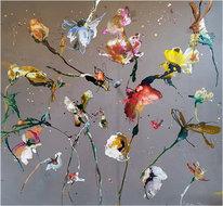 Flowers-in-the-summer-breeze-160-x-160-cm-Bloemen-schilderij