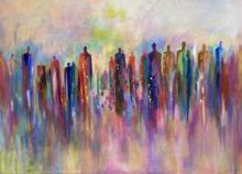 Schilderij kleurrijk