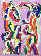 Luisterend-oor-60-x-80-cm-Abstract-schilderij