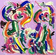 Zorgen-voor-elkaar-80-x-80-cm-Abstract-schilderij