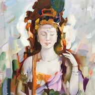 Oriental-100-x-100-Oosters-schilderij